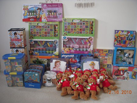 2010 Toys Donation to the Children of Madera County via United Way Local Chapter